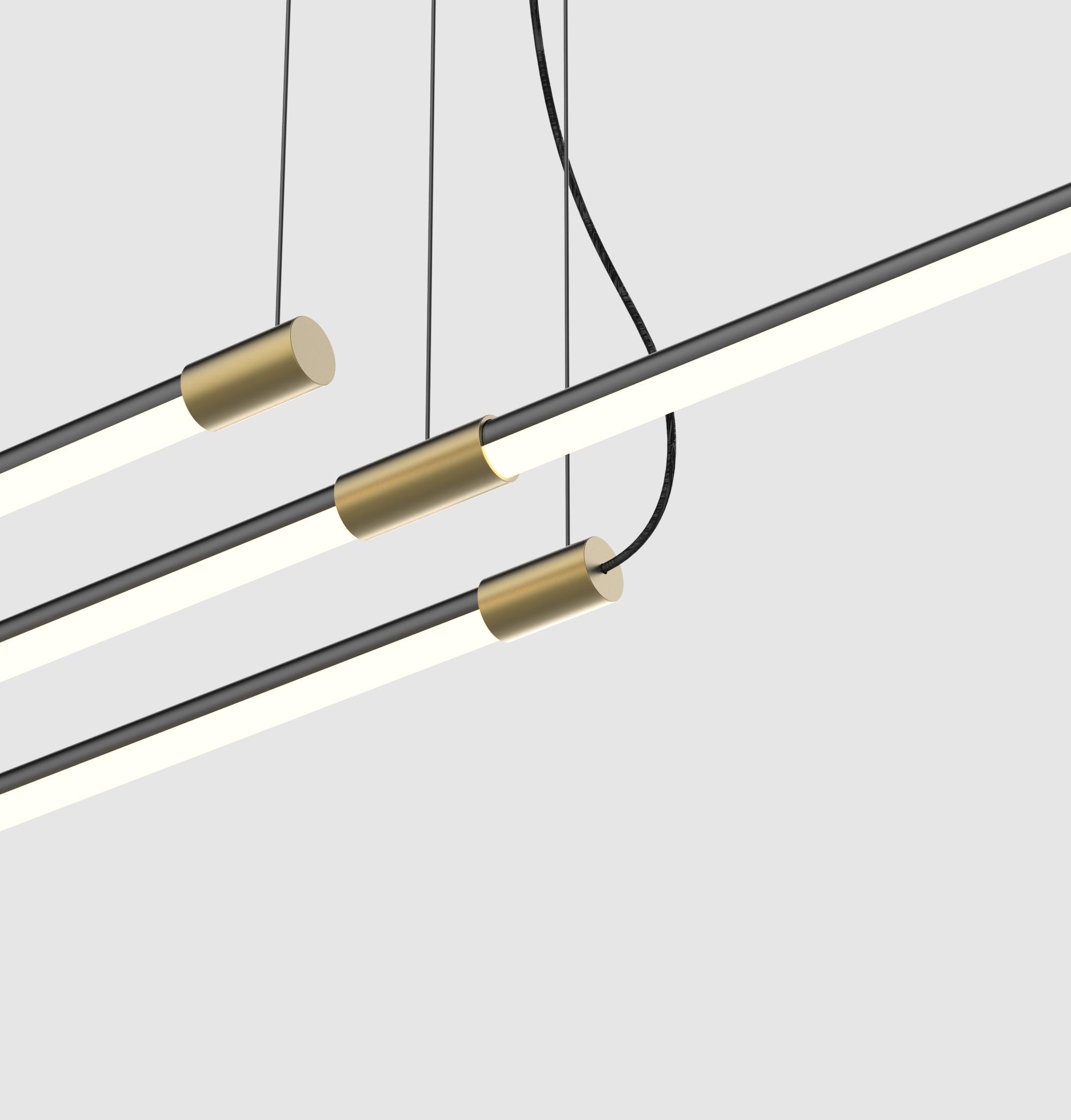 Juniper thin suspension light peter bristol for Long ceiling light fixture