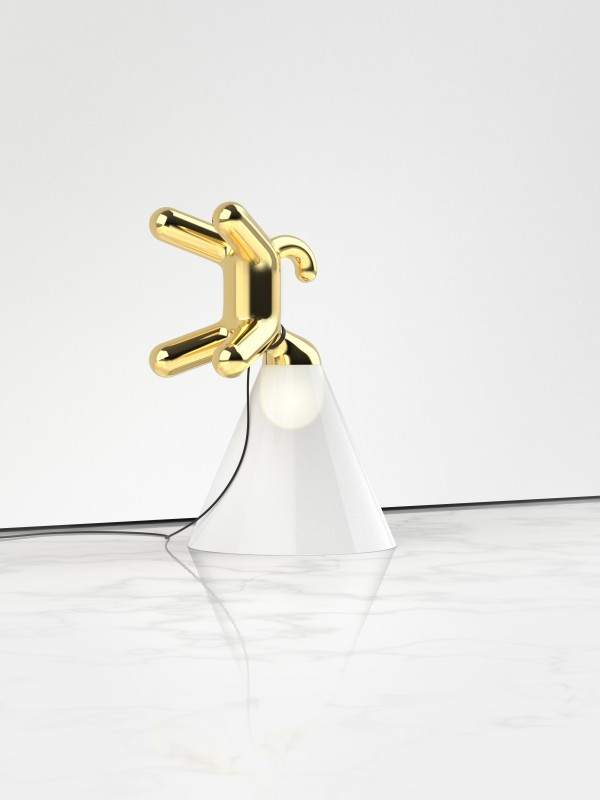 3 Peter Bristol Cone of Light Gold on Marble